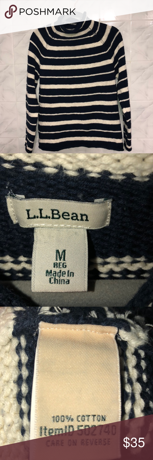 L.L.Bean Women's Cottage Cotton Sweater, Funnelneck