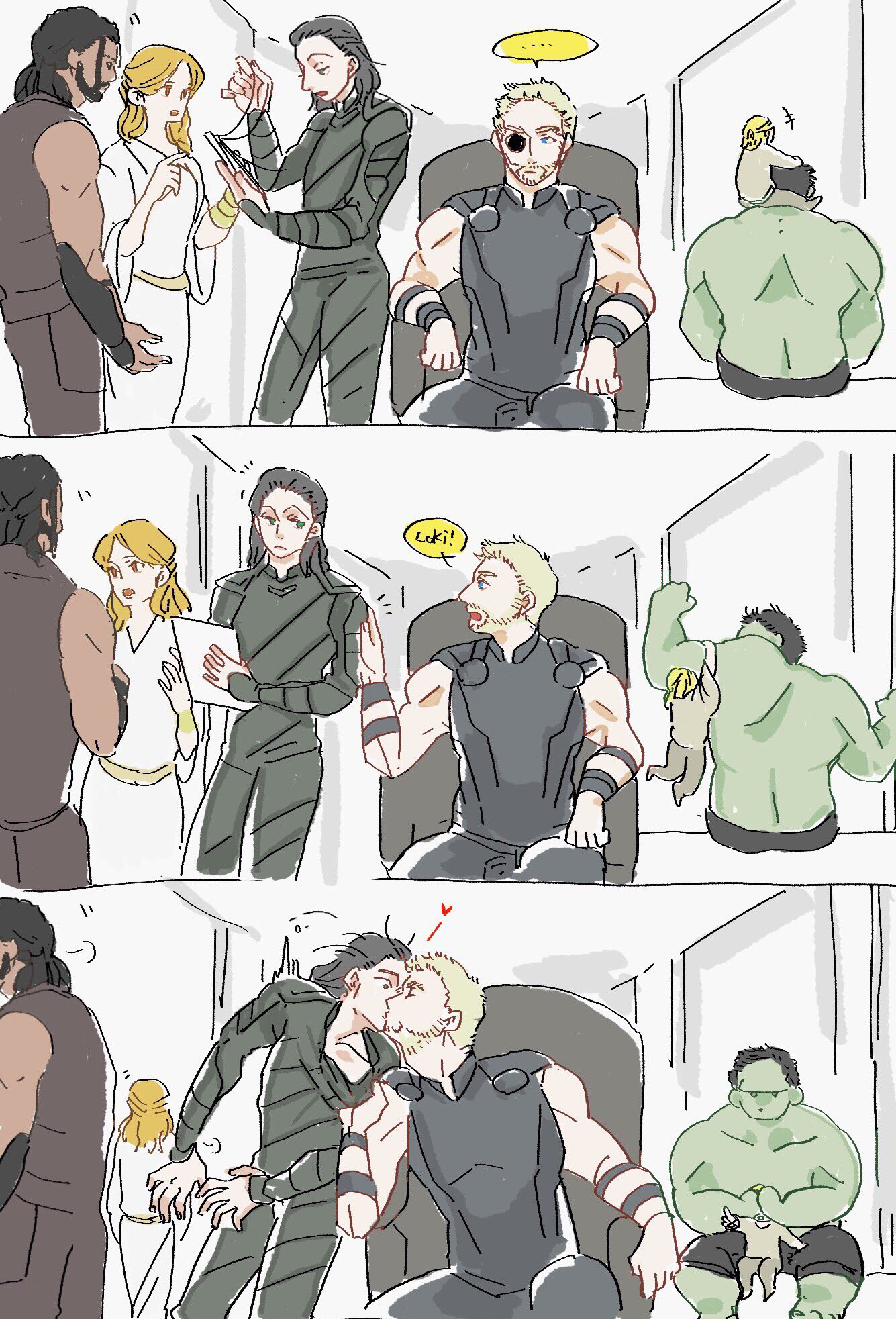 I don't ship it at all, but pinning for hulk in the last panel