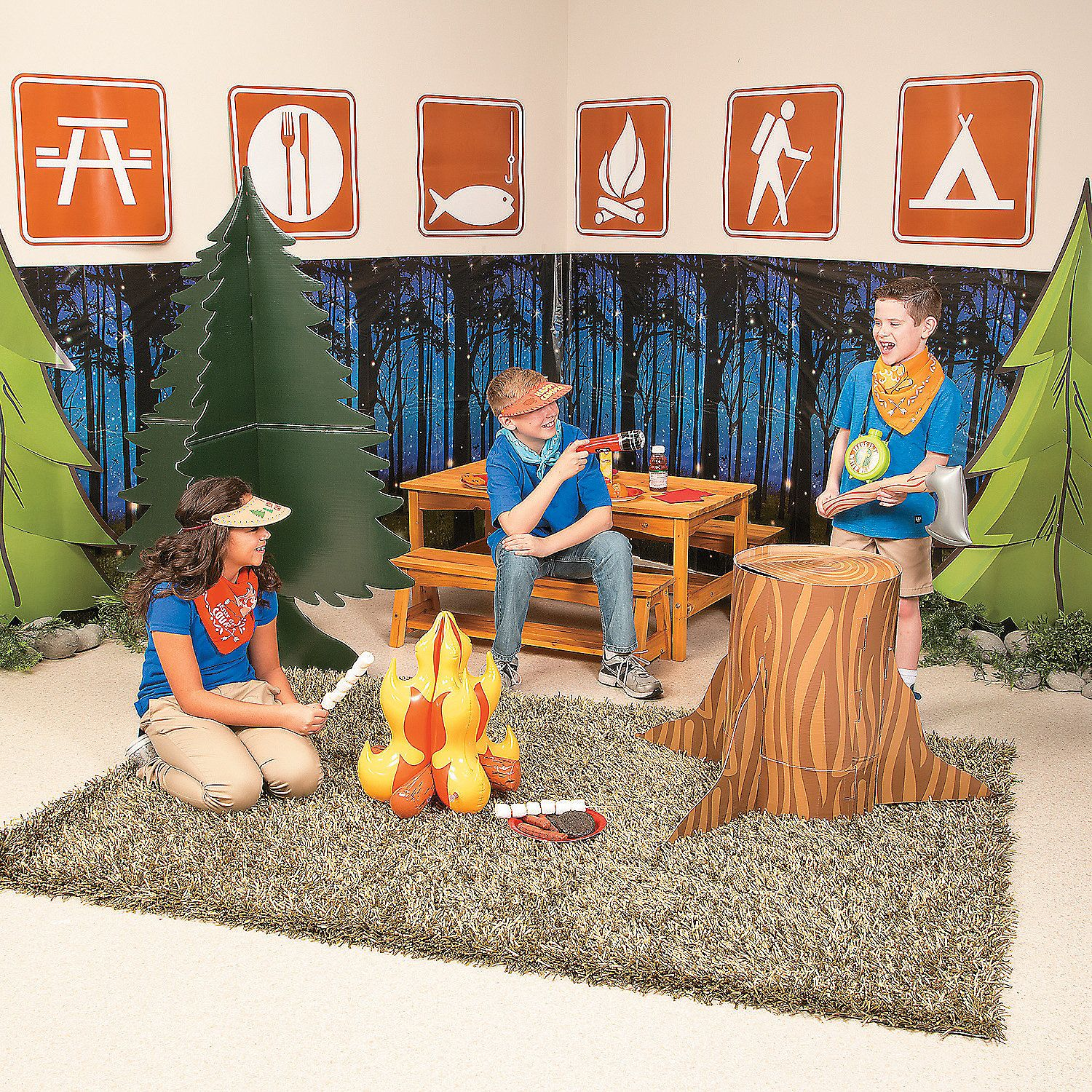 Vbs Camping Theme Decorating Ideas Part - 30: 2015 VBS Camp Courage Scene Setter Idea | Set Up Camp In Your VBS Classroom  With