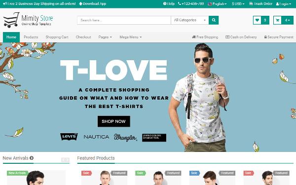 bootstrap shop template