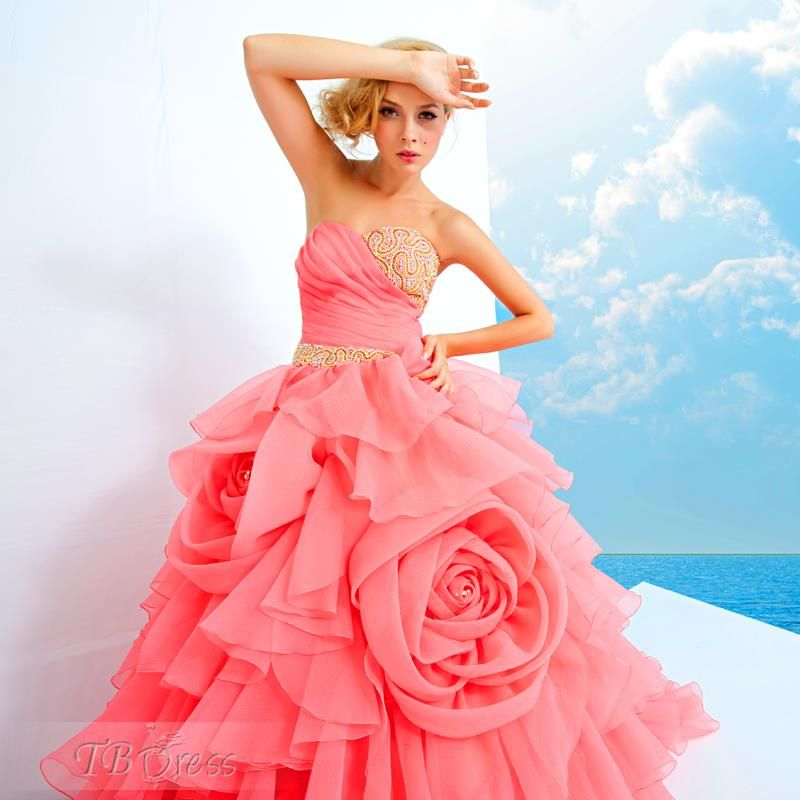 Luxurious Ball Gown Sweetheart Beading Flower S Tiered Quinceanera Dress