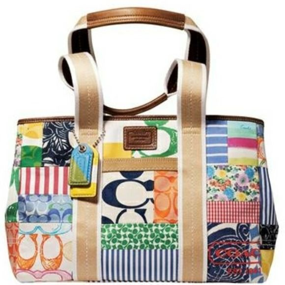 Spotted While Ping On Poshmark Authentic Coach Patchwork Hamptons Bag Fashion Style Handbags