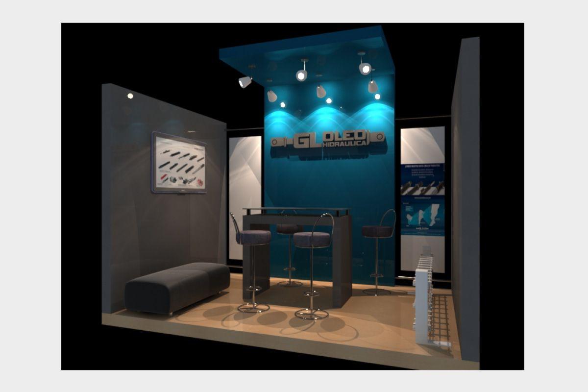 Dise o de stand para exposici n de gl oleohidraulica for Disenos de stand para exposiciones