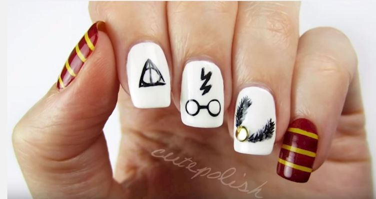 Learn How To Make This Spellbinding Harry Potter Nail Design, No Magic Wand Required!