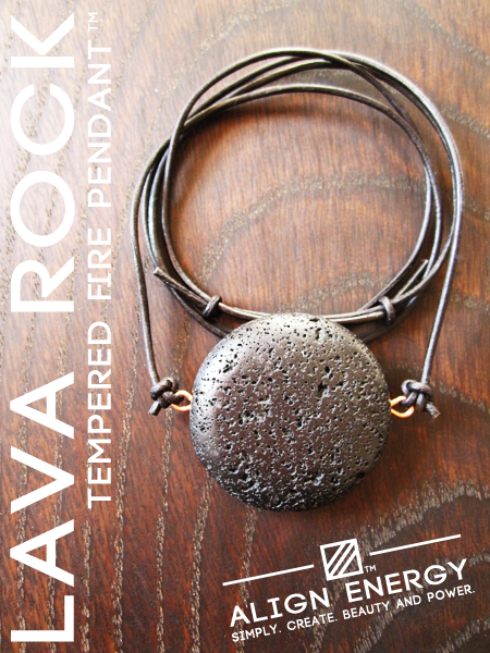 """Esoterically, Black Lava Rock is a stone of stability and tenacious courage. Containing energetic properties of both the Earth and Fire Elements and having a dual association to the Earth and Crown Chakras, wearing the stone imparts an energetic essence of gracefully controlled power."" www.AlignEnergy.net"