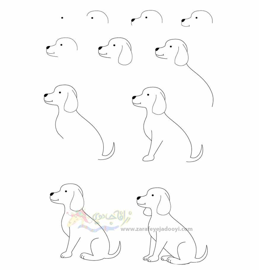 نقاشی شخصیت های کارتونی ساده