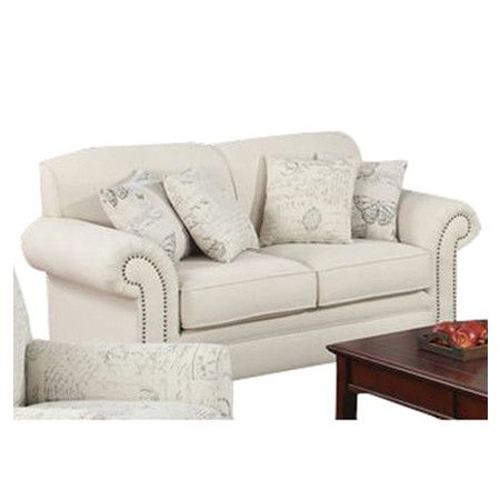 Capetown Sofa In Oatmeal Reclining Living Room Sets Found It At Wayfair Linen Blend Loveseat