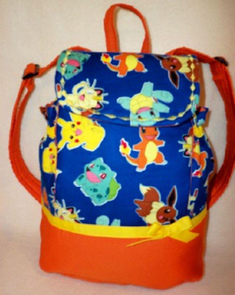 details about pokeman backpack school book bag all ages. Black Bedroom Furniture Sets. Home Design Ideas