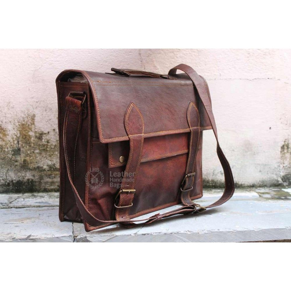 Handmade Leather Messenger Bag Your search for a stylish, strong ...