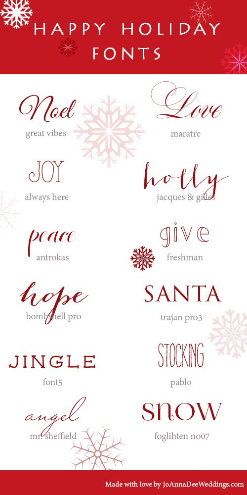Christmas Fonts.12 Holiday Fonts Christmas Ideas Holiday Fonts