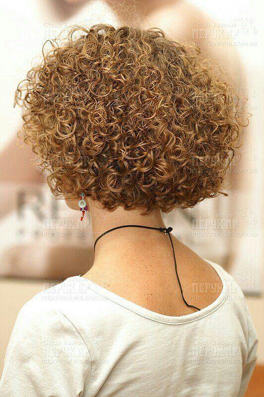 Love the spiral curls on short hair! | Short permed hair ...