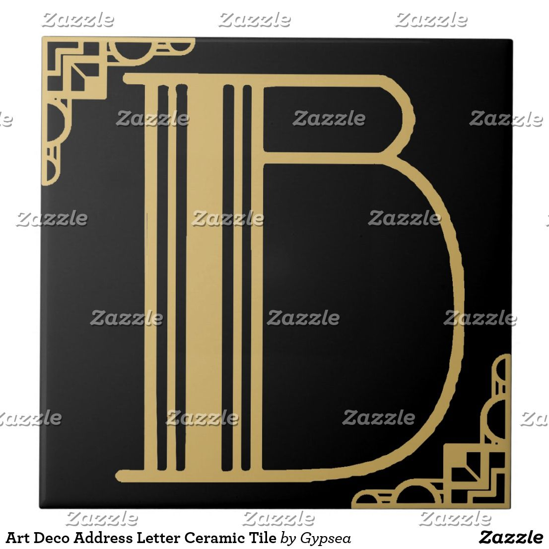 Art deco address letter ceramic tile youll find numbers too art deco address letter ceramic tile youll find numbers too great for doublecrazyfo Image collections