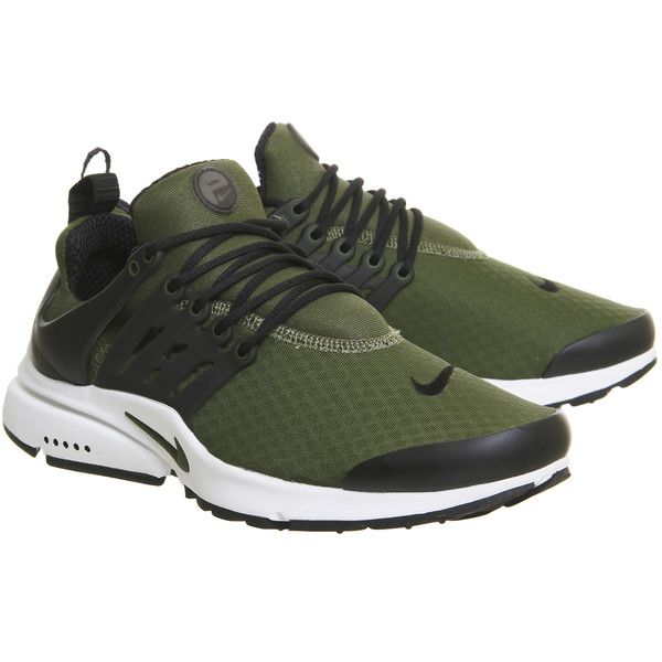 f0a24b01aac8a Nike Air Presto Fs Trainers Legion Green Black ( 115) ❤ liked on Polyvore  featuring