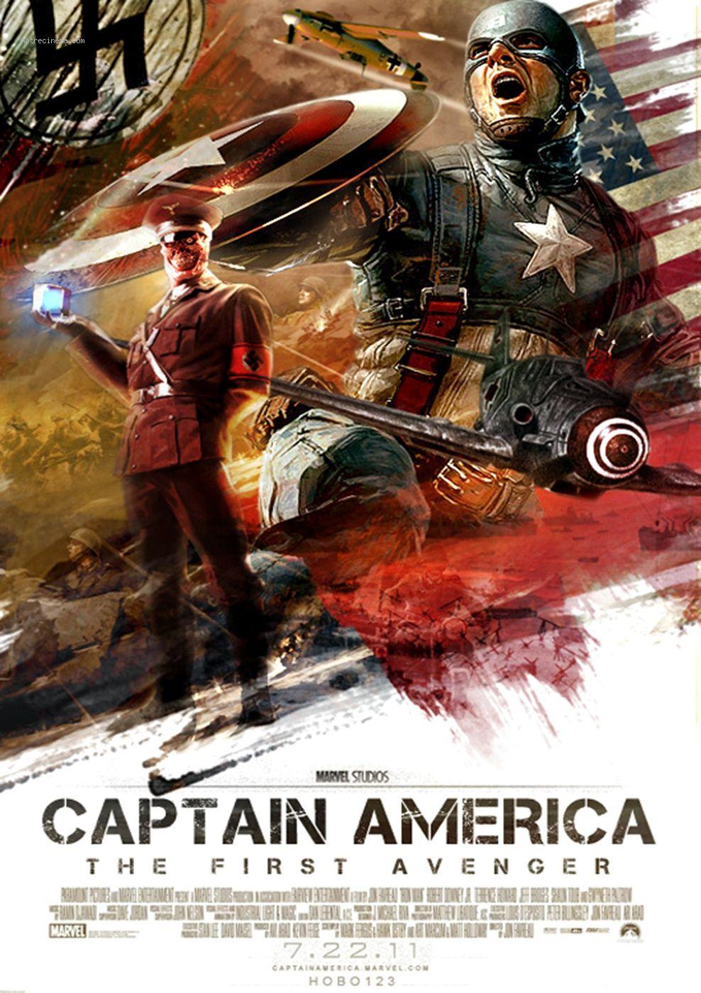 Capitan America El Primer Vengador 2011 Captain America Movie Marvel Movie Posters Movie Posters