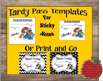 Tired Of Writing Tardy Slips Over And These Templates Will Put An End To