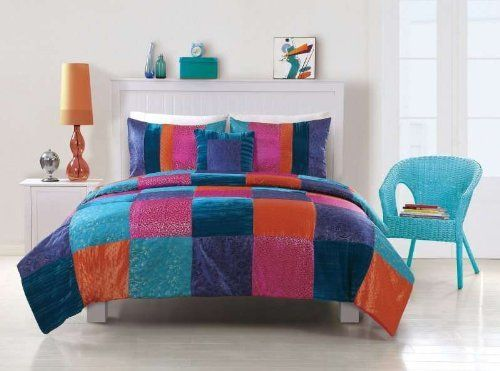 Nelli Boho Comforter with Sham by PEM America. $94.84. Bright colors are the theme for this chic pattern that brings life to any boring old bedroom. The hand pieced squares are made of jacquard woven cloth in bright colors with metallic hints to give you a dazzling bed! Face cloth is made from pieced fabrics of polyester and cotton. Filled with 100% hypoqallergenic polyester. Dry Clean Only.Twin comforter is 68x86 inches with 1 standard pillow sham 20x26 inches. Ful...