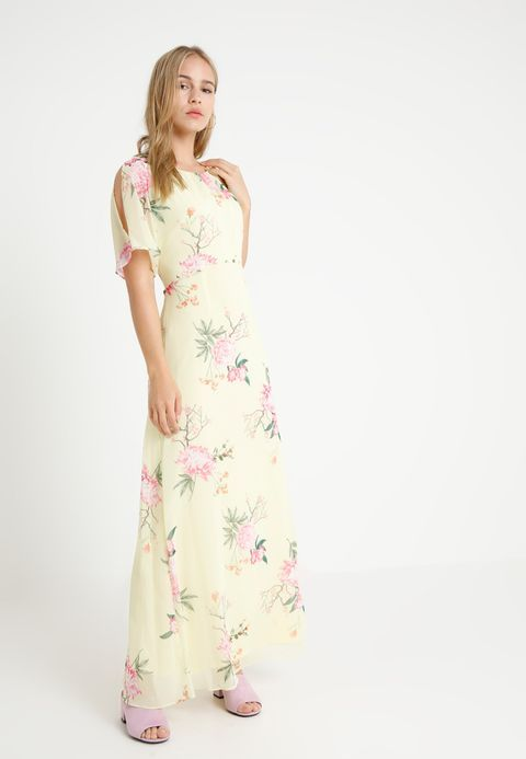 TIE NECK MAXI - Maxi dress - lemon | Wallis petite, Wallis and Maxi ...