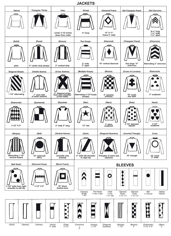 Resin Jockey Silks Order Form