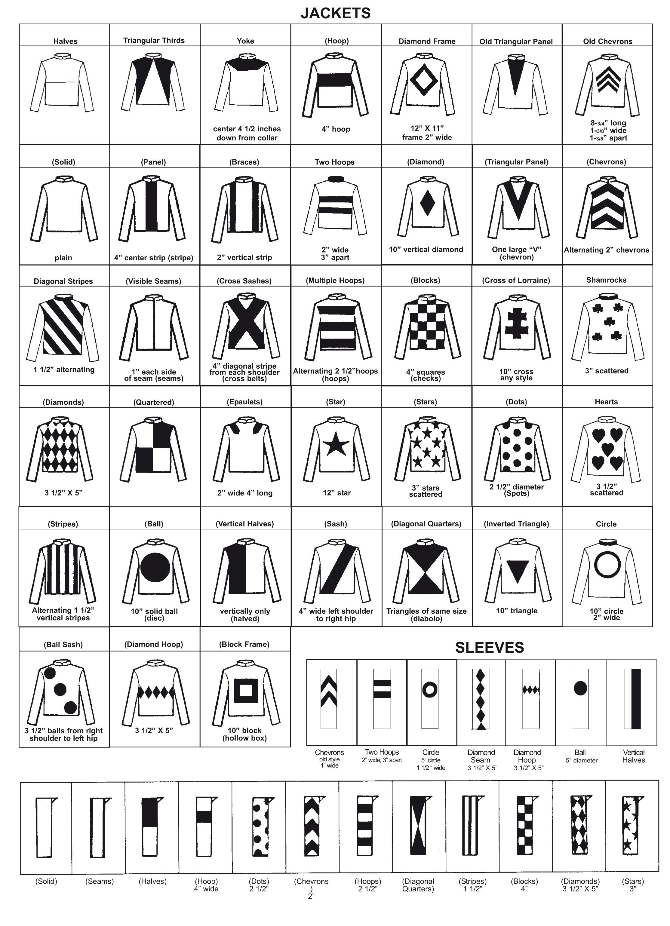 Resin Jockey Silks Order Form Jockey Conversational Prints