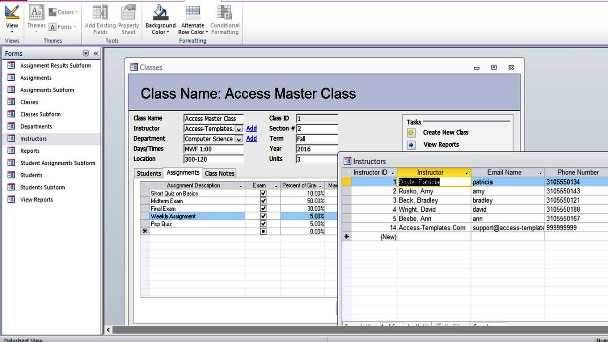 Microsoft Access Student Database Templates Th Pinterest - issue tracking template