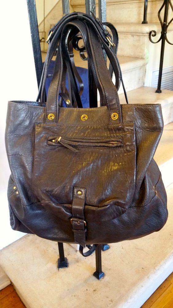 Jerome Dreyfuss Bubble Lambskin Dark Brown Leather Billy Bag 700 Taxes Jeromedreyfuss Totespers