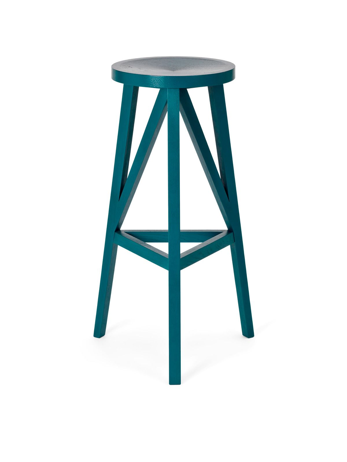 JL4 Faber Bar Stool by Loehr. ocean blue, 780mm seat height for a bar counter.