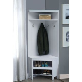 Shop For Yerba Linda Corner Hall Tree With Storage. Get Free Shipping At  Overstock.