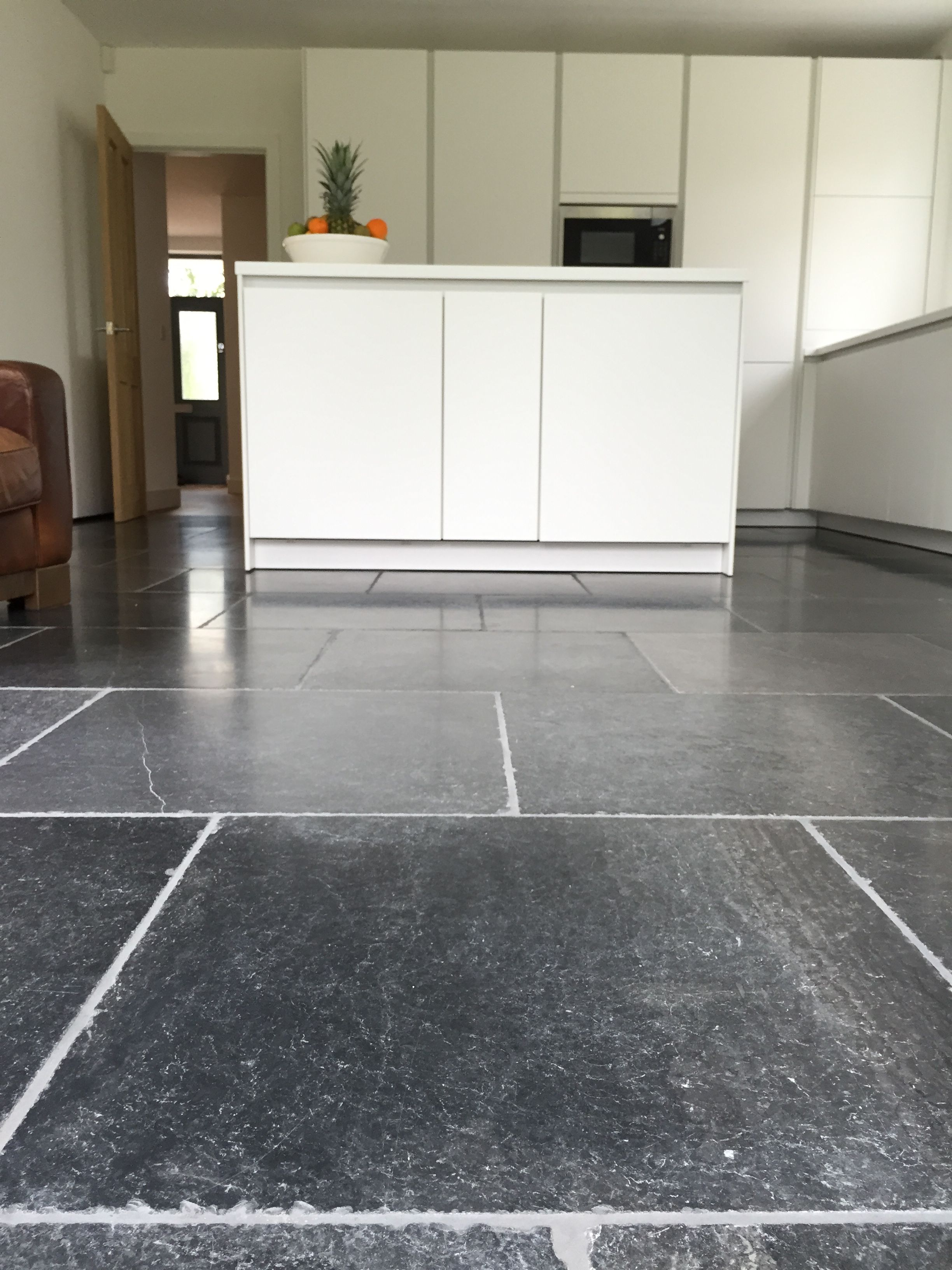 Blue stone floor tiles aged and tumbled finish with stunning blue stone floor tiles aged and tumbled finish with stunning tonal variation and white quartz dailygadgetfo Gallery