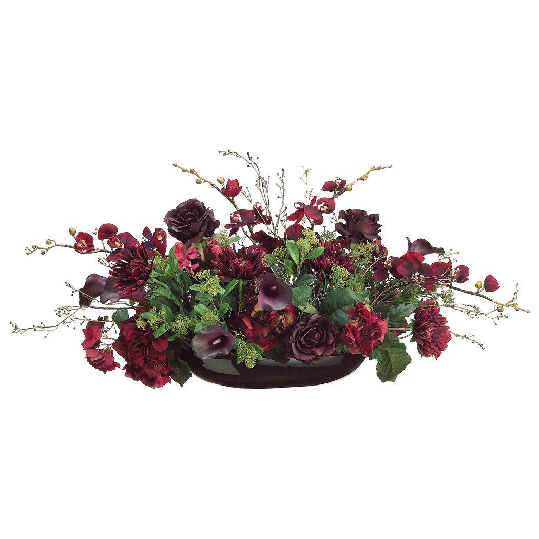 Hydrangeas Silk Flower Centerpiece Ideas | Home Silk Hydrangea ...