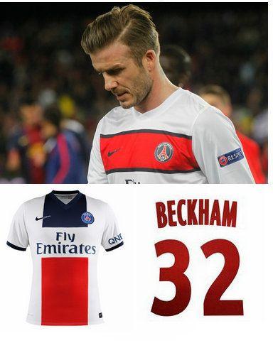PSG (Beckham 32) Away Soccer jersey-Varieties of stylish 2013-2014 PSG ca7832de0