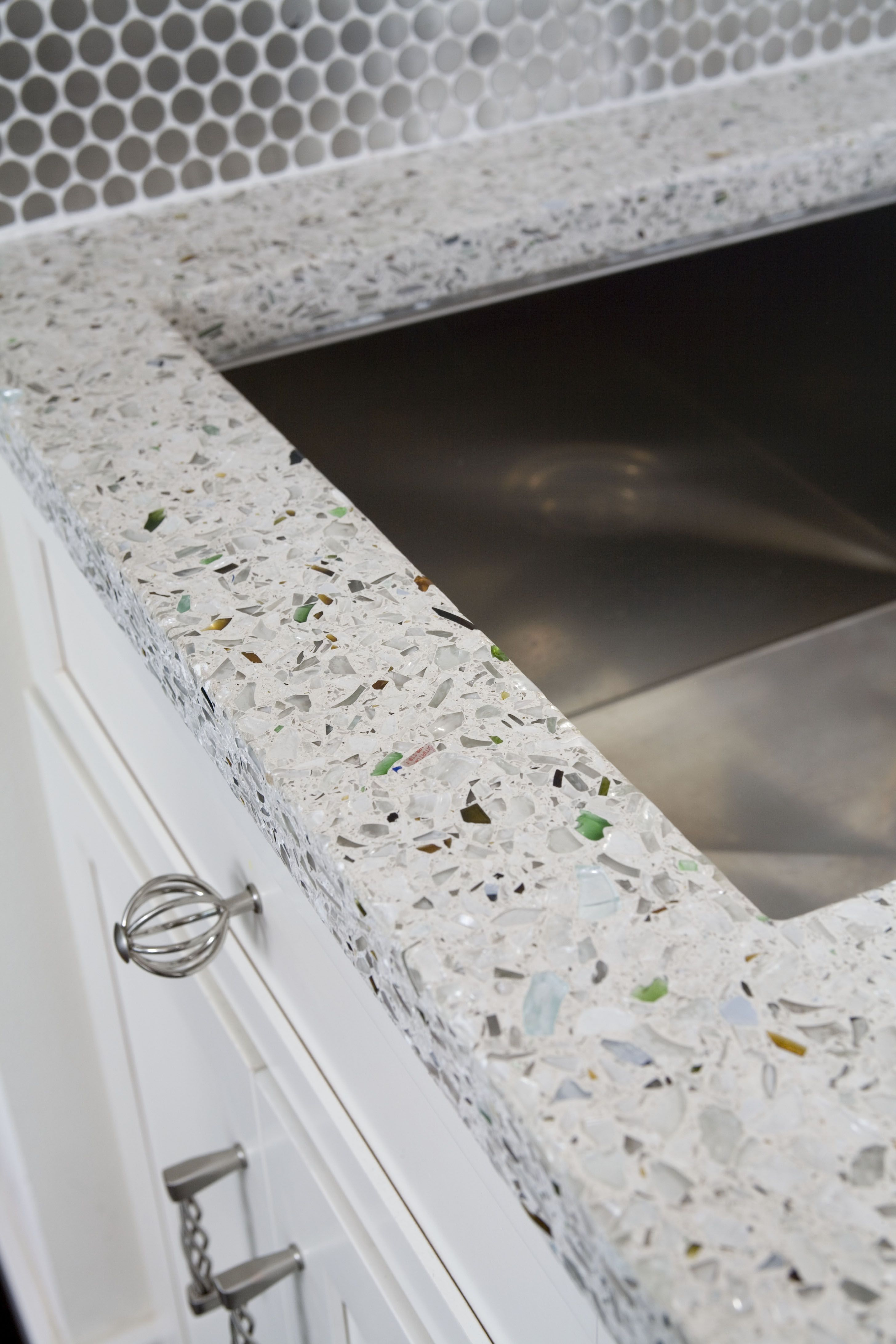 recycled glass kitchen countertops cabinets st louis vetrazzo countertop installation