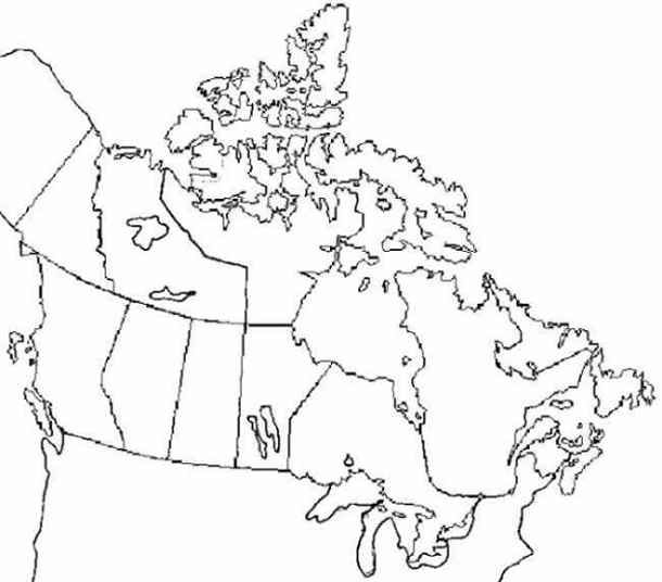 Practice Maps Provinces And Territories Of Canada Geography - Blank map of canada with great lakes