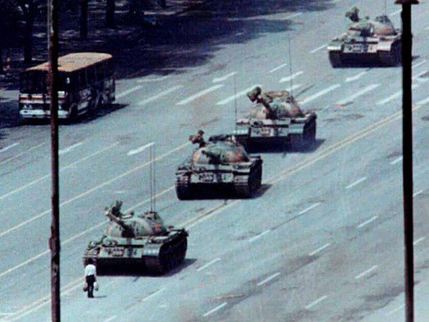 Tanks Type 59 During The Events In Tiananmen Square In Beijing In