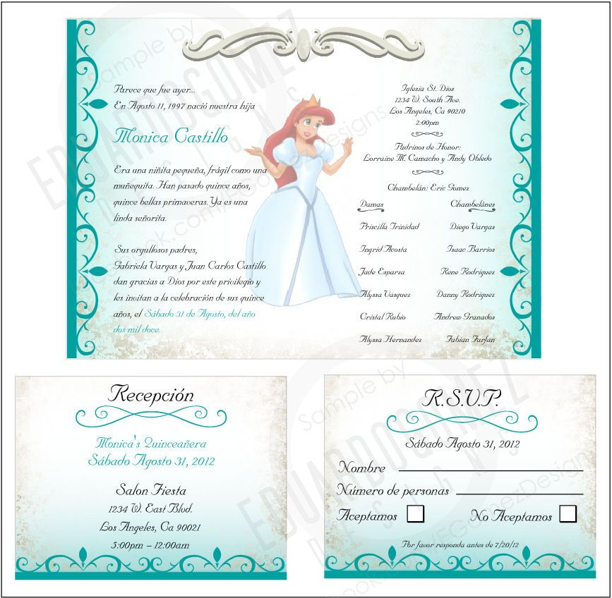 finished project quinceanera invitation the perfect quinceanera