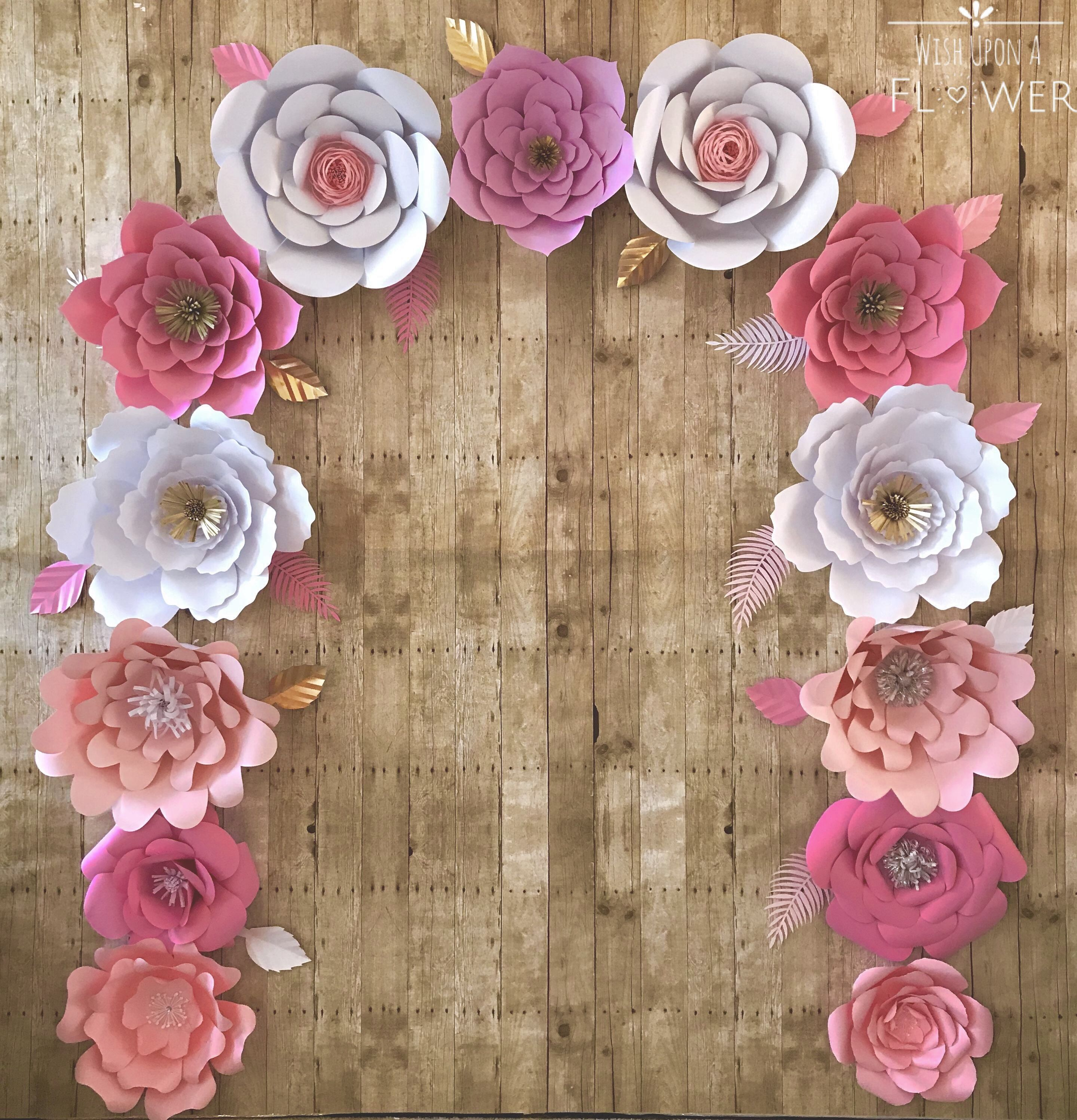 Wedding decorations paper flowers  Paper Flower Wall paperflowerwall wedding weddings paperflower