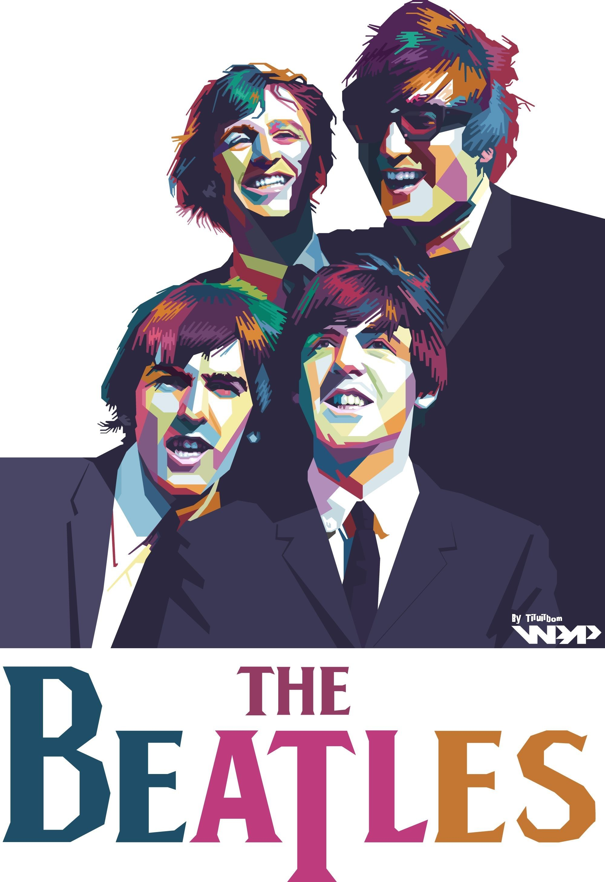 The Beatles In WPAP I Can Turn Your Portrait Similar To This Click Link Below