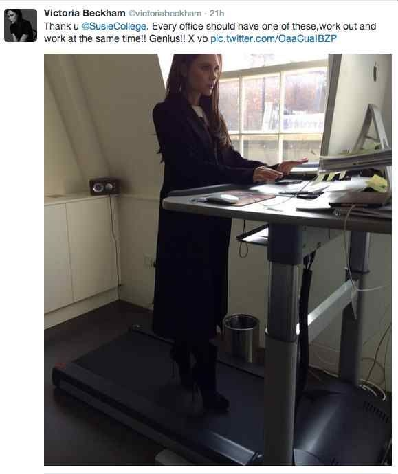 Want to Workout like Victoria Beckham with a Treadmill Desk