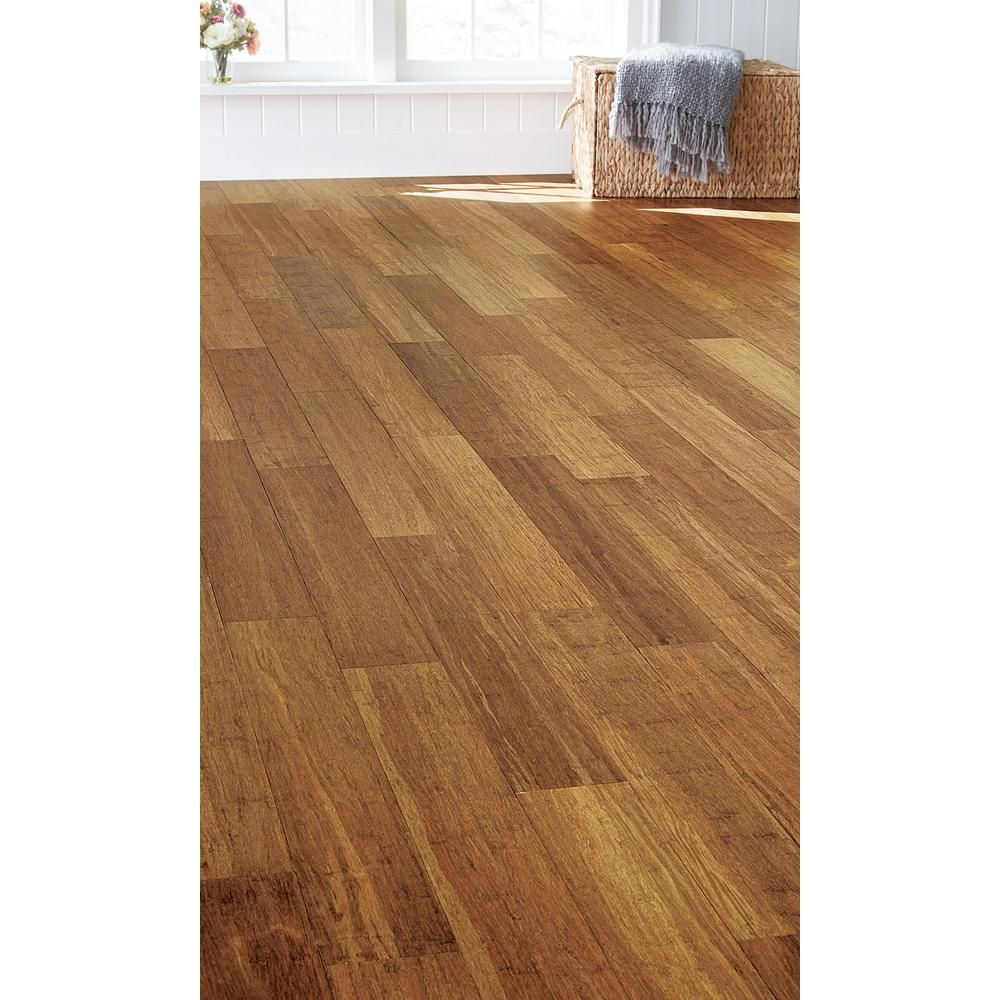 Trafficmaster Strand Woven Sunset 5 16 In T X 5 1 8 In W X 36 In L Click Eswf02m Bamboo Flooring Prices Engineered Bamboo Flooring Vintage House Plans