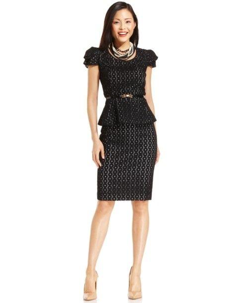 pencil skirt suit sets | women's black cotton cap sleeve acetate ...