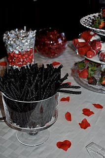 this is from a cute naughty or nice bridal shower set up these are the naughty sideblack licorice lol