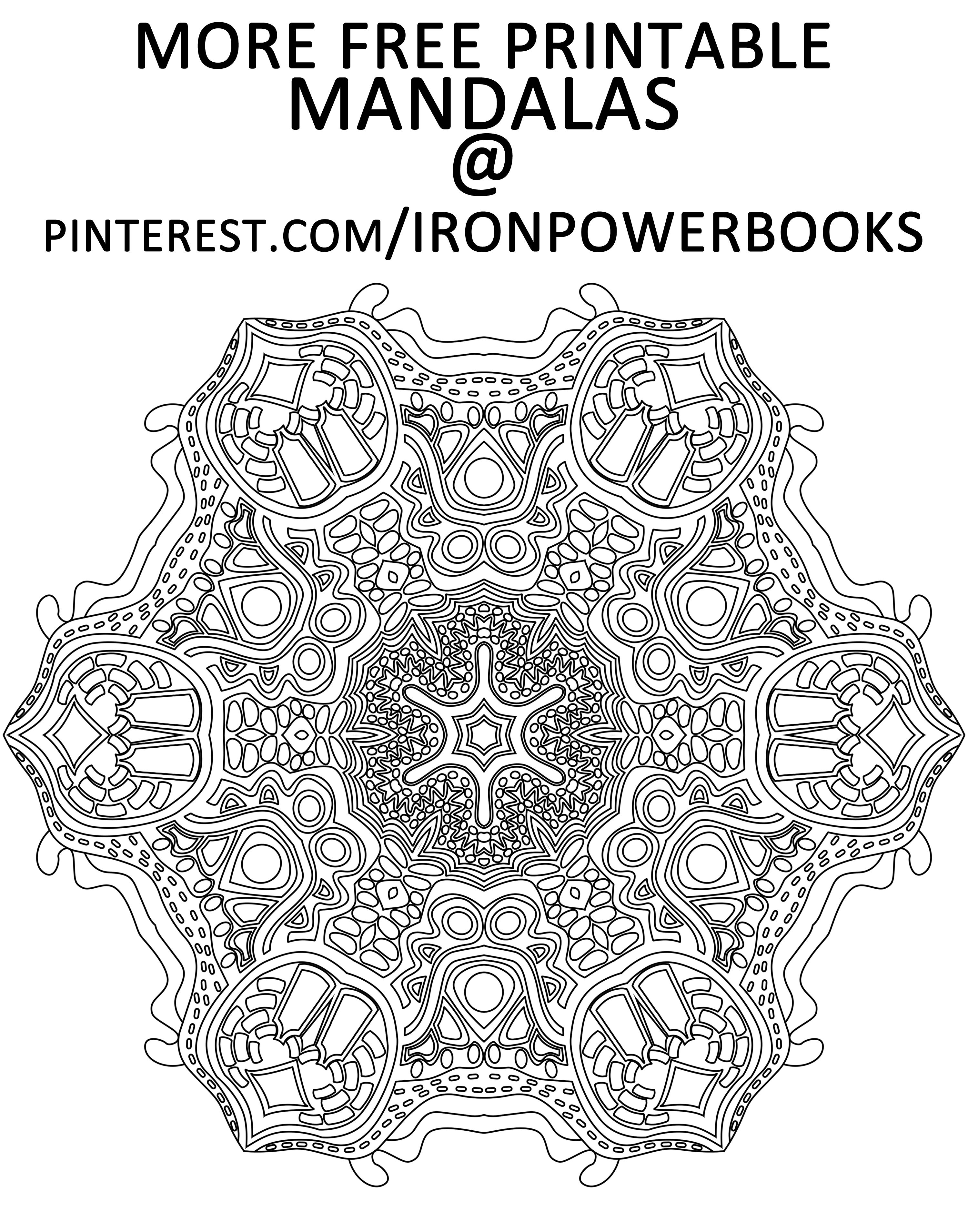 Colour therapy for relaxation - Art Therapy For Relaxation Color This Free Printable Mandala Page Follow Ironpowerbooks Or