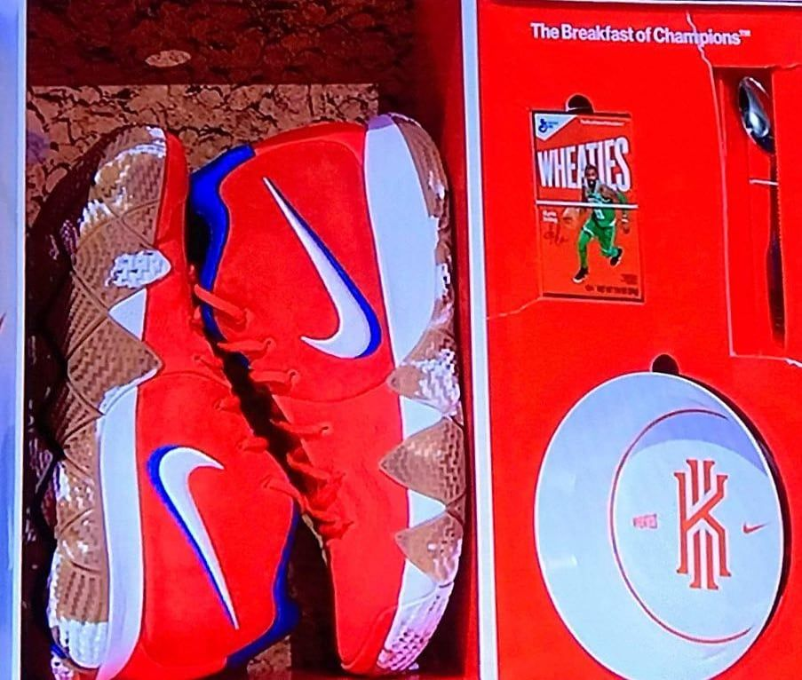 d8db917d8a9 Nike Kyrie 4  Wheaties  Limited to 100 Pairs