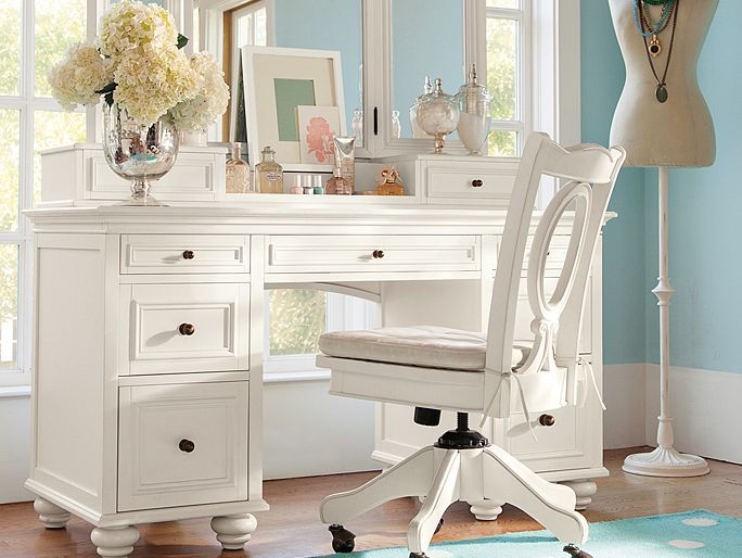 Chelsea Sweet Vanity Girls Bedroom Furniture White