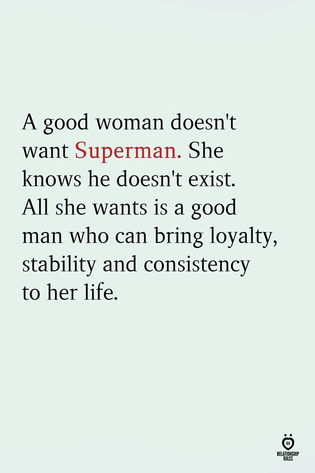 A Good Woman Doesn't Want Superman
