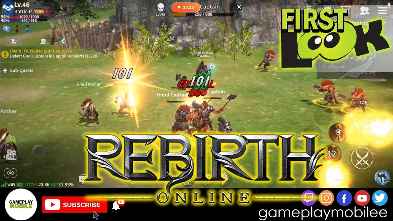 Rebirth Online Gameplay Android Ios Mmorpg Mobile Game Hd First Look