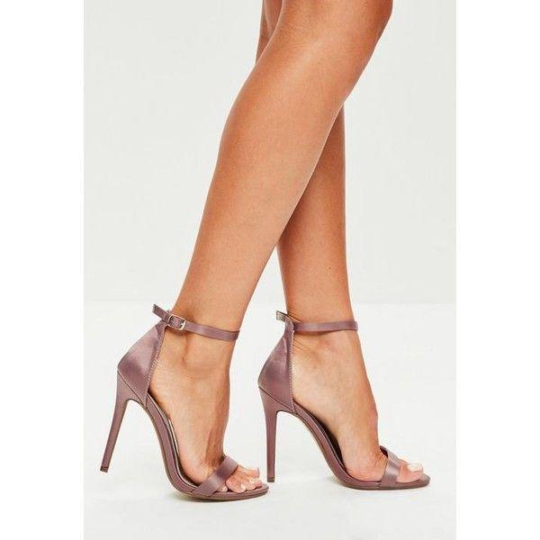 Designer Clothes, Shoes & Bags for Women | SSENSE. Purple SatinPurple  ShoesSatin ShoesMissguidedAnkle ...