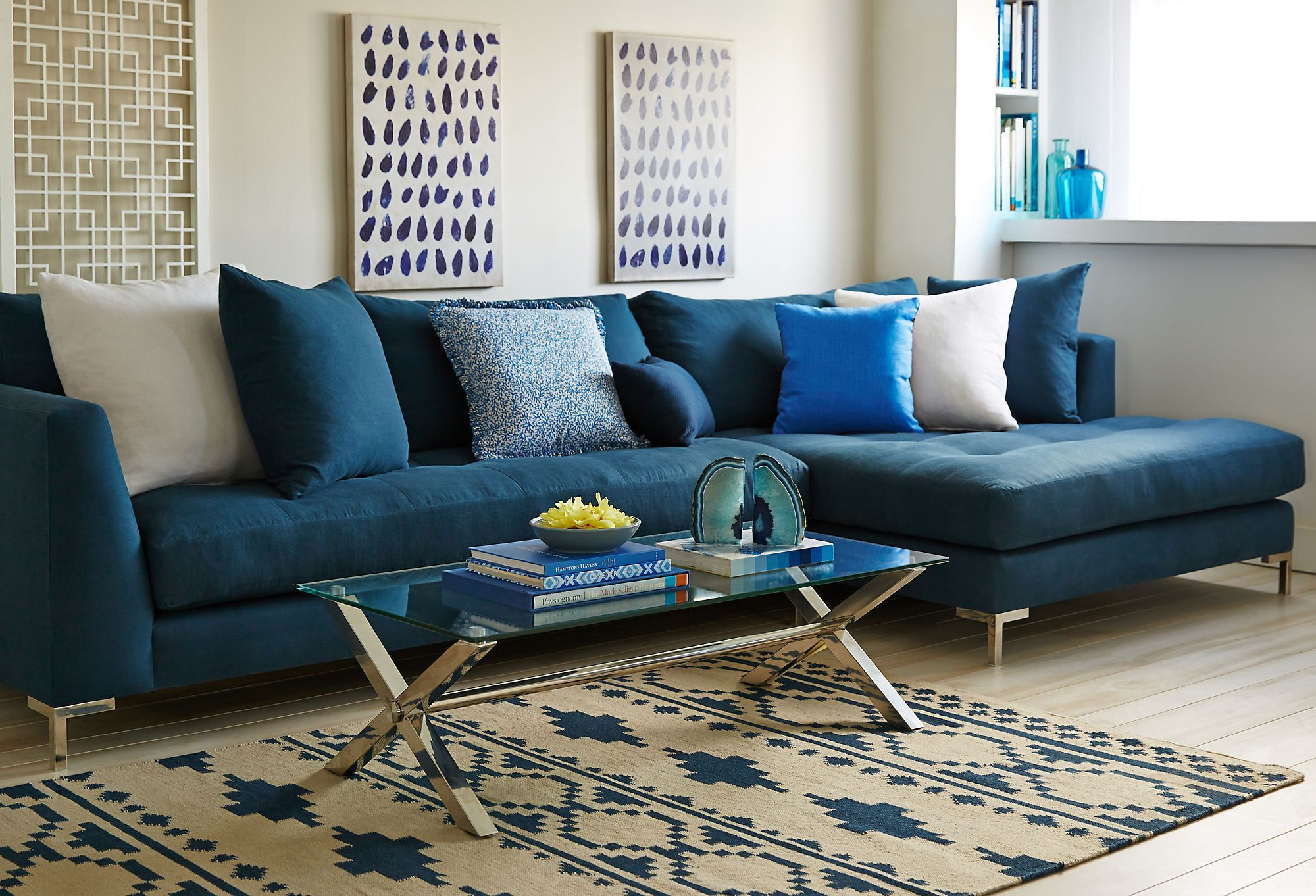 Walden Sectional Denim Blue The Comfort Zone One