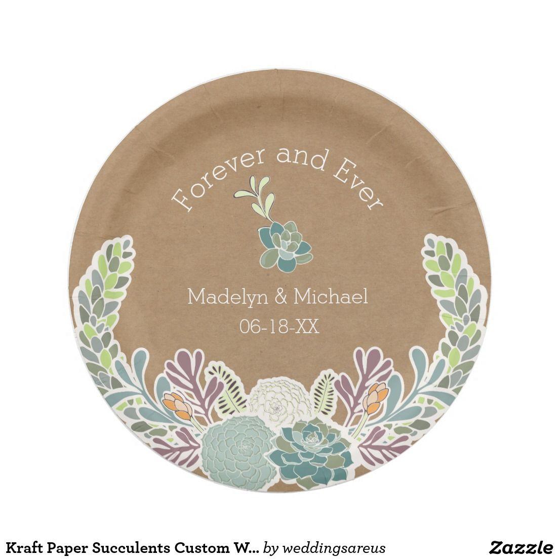 Custom paper service plates