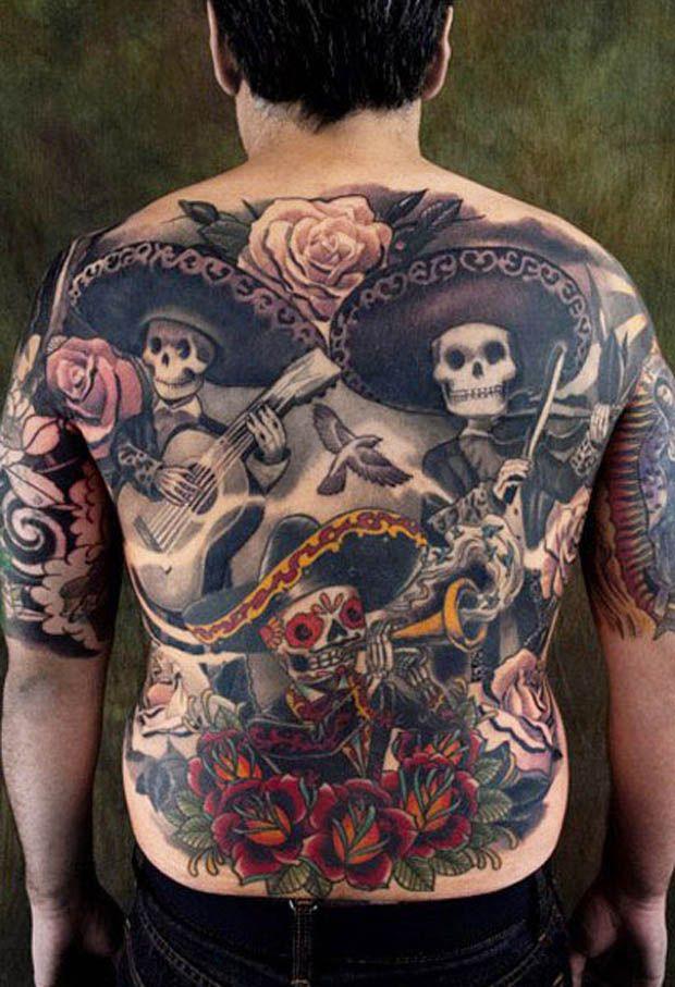 Yallzee S Sugar Skull Tattoos Skull Tattoos