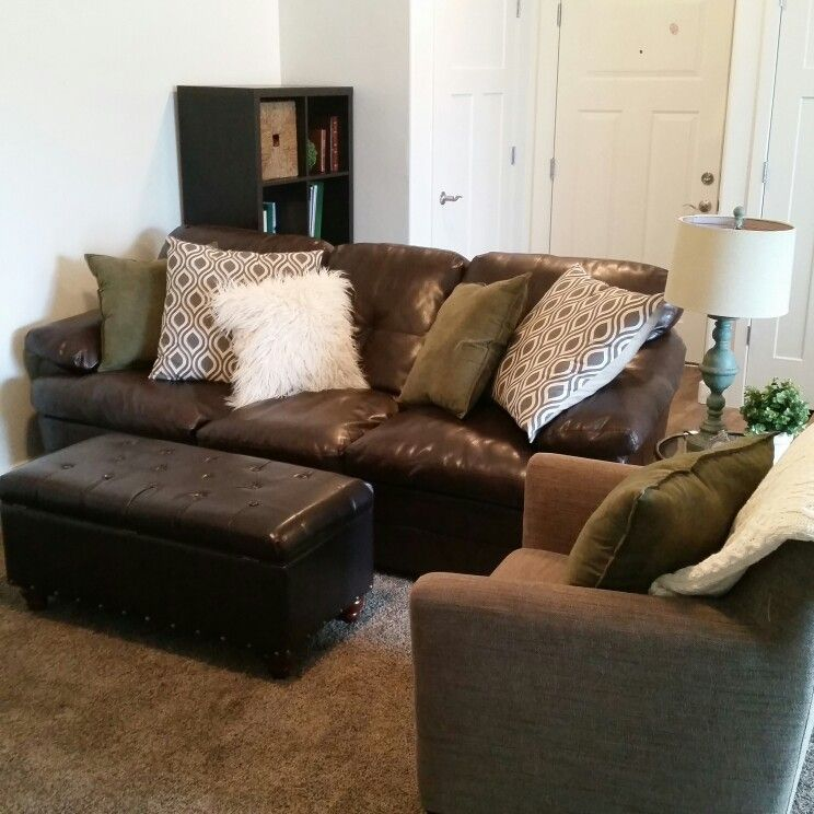 Magnificent Faux Fur Pillow Leather Couch And Chair From Ikea Home Caraccident5 Cool Chair Designs And Ideas Caraccident5Info
